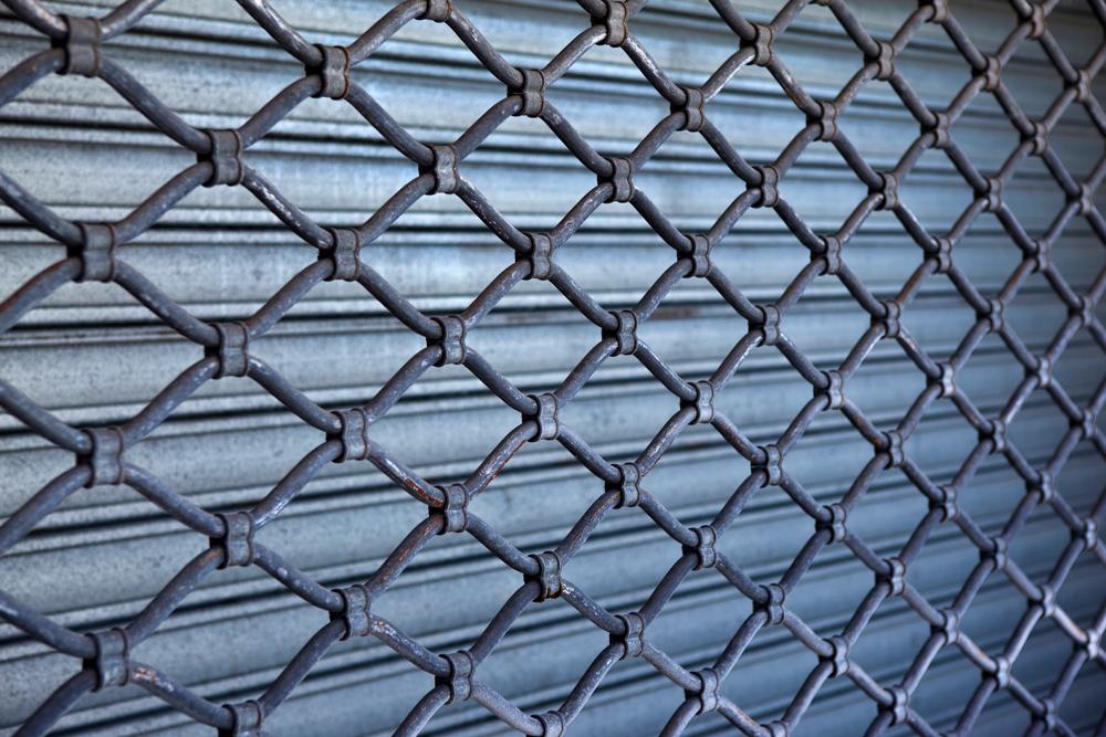 fermeture de garage grille